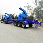 3 axles 37T 45Ton Shipping Container Side Loader