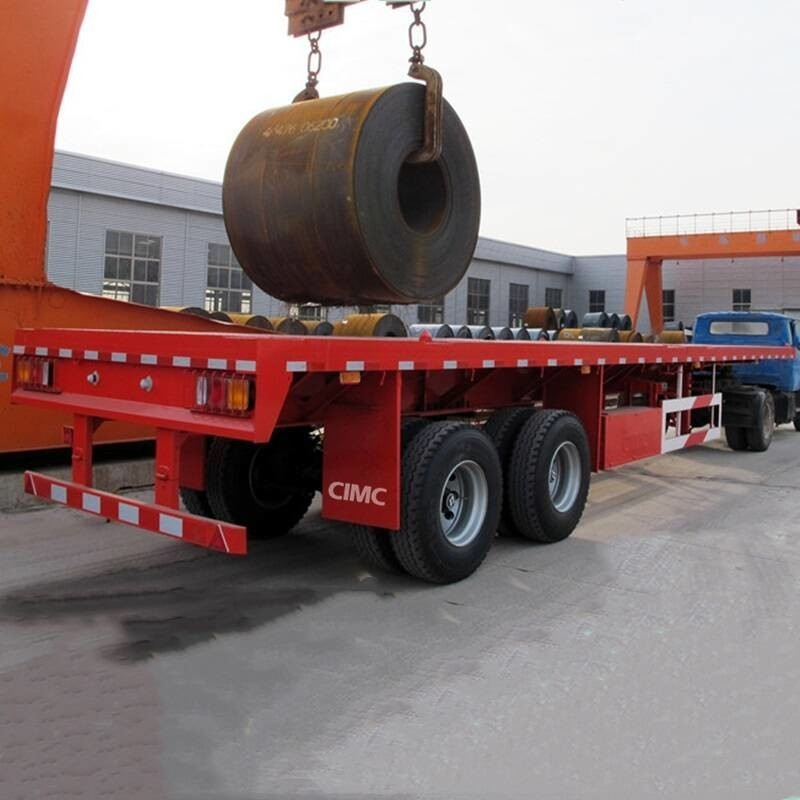 Double Fuwa Axle 40Tons Bogie 40 FT Container Chassis
