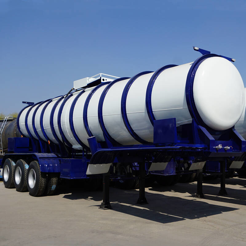Carbon Steel Liquids V Shape 20cbm Acid Tanker Trailer