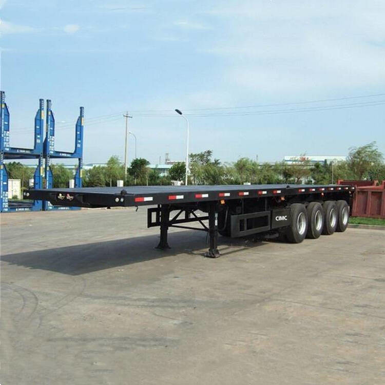 4 Axle Flat Deck Airbag Suspension 48ft Semi Dump Trailers