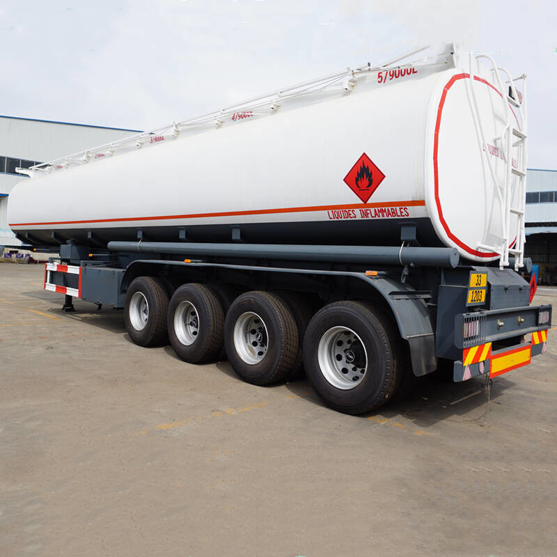 CIMC 4 Axle 45000L Fuel Tanker Trailer Carbon Steel Material